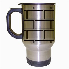 Wall Pattern Rectangle Brick Travel Mug (silver Gray)