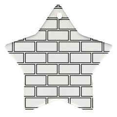 Wall Pattern Rectangle Brick Star Ornament (two Sides)