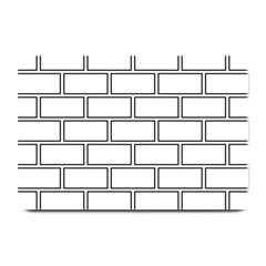 Wall Pattern Rectangle Brick Plate Mats