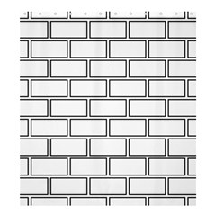 Wall Pattern Rectangle Brick Shower Curtain 66  X 72  (large)