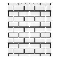 Wall Pattern Rectangle Brick Shower Curtain 60  X 72  (medium)