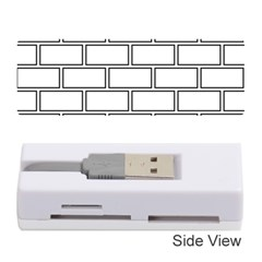 Wall Pattern Rectangle Brick Memory Card Reader (stick)