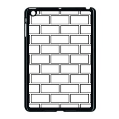 Wall Pattern Rectangle Brick Apple Ipad Mini Case (black)