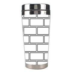 Wall Pattern Rectangle Brick Stainless Steel Travel Tumblers