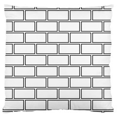 Wall Pattern Rectangle Brick Large Flano Cushion Case (one Side)