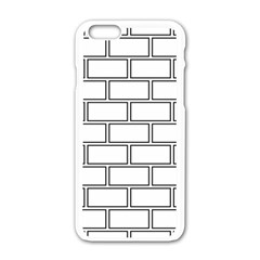 Wall Pattern Rectangle Brick Apple Iphone 6/6s White Enamel Case