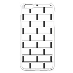 Wall Pattern Rectangle Brick Apple Iphone 6 Plus/6s Plus Enamel White Case