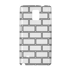 Wall Pattern Rectangle Brick Samsung Galaxy Note 4 Hardshell Case