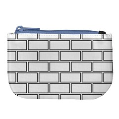 Wall Pattern Rectangle Brick Large Coin Purse