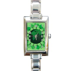 Earth Forest Forestry Lush Green Rectangle Italian Charm Watch