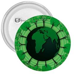 Earth Forest Forestry Lush Green 3  Buttons