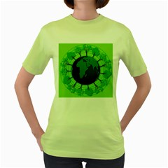Earth Forest Forestry Lush Green Women s Green T Shirt