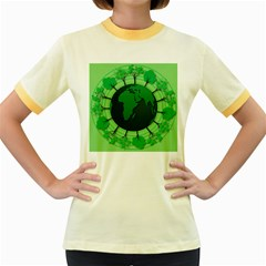Earth Forest Forestry Lush Green Women s Fitted Ringer T Shirts