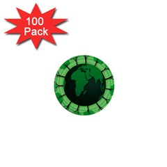 Earth Forest Forestry Lush Green 1  Mini Buttons (100 Pack)
