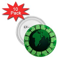 Earth Forest Forestry Lush Green 1 75  Buttons (10 Pack)