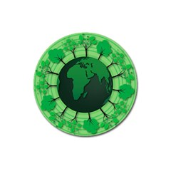 Earth Forest Forestry Lush Green Magnet 3  (round)