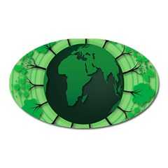 Earth Forest Forestry Lush Green Oval Magnet
