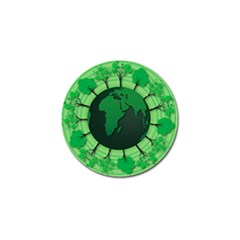 Earth Forest Forestry Lush Green Golf Ball Marker