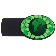 Earth Forest Forestry Lush Green Usb Flash Drive Oval (2 Gb)