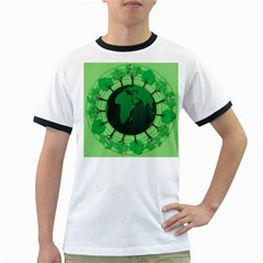 Earth Forest Forestry Lush Green Ringer T Shirts