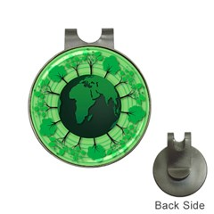 Earth Forest Forestry Lush Green Hat Clips With Golf Markers