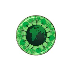 Earth Forest Forestry Lush Green Hat Clip Ball Marker