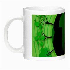 Earth Forest Forestry Lush Green Night Luminous Mugs
