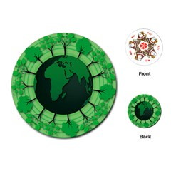 Earth Forest Forestry Lush Green Playing Cards (round)