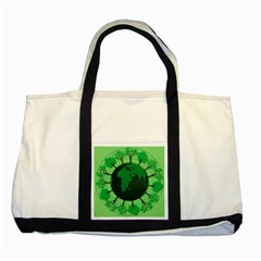 Earth Forest Forestry Lush Green Two Tone Tote Bag