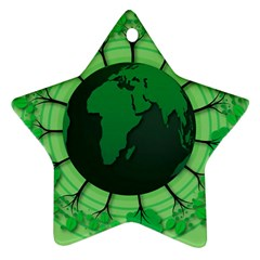 Earth Forest Forestry Lush Green Star Ornament (two Sides)