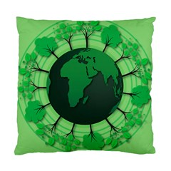 Earth Forest Forestry Lush Green Standard Cushion Case (two Sides)