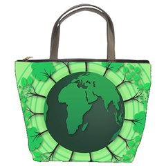 Earth Forest Forestry Lush Green Bucket Bags