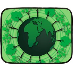 Earth Forest Forestry Lush Green Fleece Blanket (mini)
