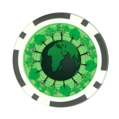 Earth Forest Forestry Lush Green Poker Chip Card Guard (10 Pack)