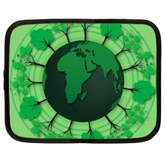 Earth Forest Forestry Lush Green Netbook Case (xxl)