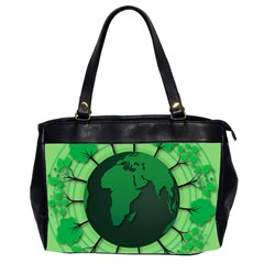 Earth Forest Forestry Lush Green Office Handbags (2 Sides)