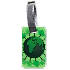 Earth Forest Forestry Lush Green Luggage Tags (one Side)