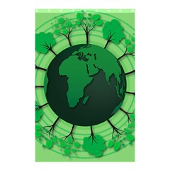 Earth Forest Forestry Lush Green Shower Curtain 48  X 72  (small)