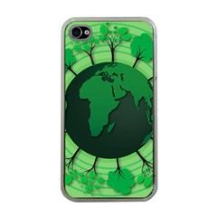 Earth Forest Forestry Lush Green Apple Iphone 4 Case (clear)