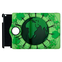Earth Forest Forestry Lush Green Apple Ipad 3/4 Flip 360 Case