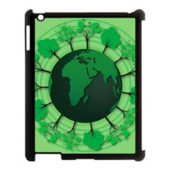 Earth Forest Forestry Lush Green Apple Ipad 3/4 Case (black)