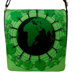 Earth Forest Forestry Lush Green Flap Messenger Bag (s)