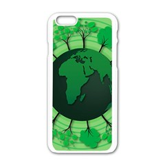 Earth Forest Forestry Lush Green Apple Iphone 6/6s White Enamel Case