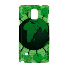 Earth Forest Forestry Lush Green Samsung Galaxy Note 4 Hardshell Case