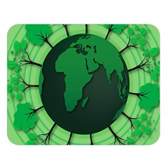 Earth Forest Forestry Lush Green Double Sided Flano Blanket (large)