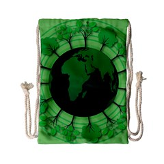 Earth Forest Forestry Lush Green Drawstring Bag (small)