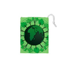 Earth Forest Forestry Lush Green Drawstring Pouches (xs)