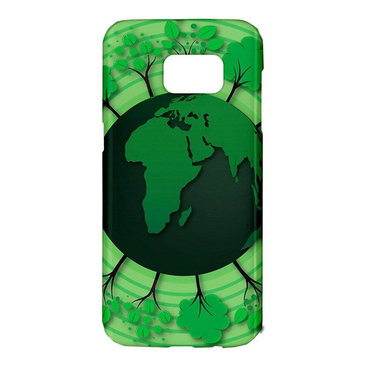 Earth Forest Forestry Lush Green Samsung Galaxy S7 Edge Hardshell Case