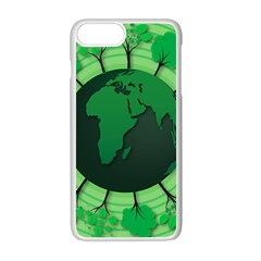 Earth Forest Forestry Lush Green Apple Iphone 7 Plus Seamless Case (white)