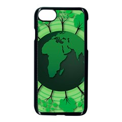 Earth Forest Forestry Lush Green Apple Iphone 7 Seamless Case (black)